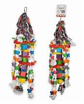 Jouet oiseau bois fun cubes multicolore 55cm