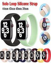 Bracelet apple watch en silicone élastique Solo boucle