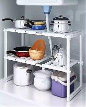 Rangement multifonctions sous l'évier ajustable pour cuisine et salle de bain