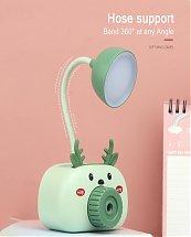 Lampes et veilleuse avec éclairage LED rechargeable USB pour enfants avec support téléphone