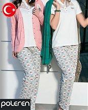 Pyjama Turque Coton Fleurs d'automne 3 pièces femme