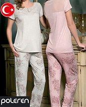 Pyjama Turque Coton Cute Flower 2 pièces femme