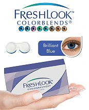Pack Freshlook Colorblends (avec corrections) - Bleu Brillant + Aqua Lens 120ml