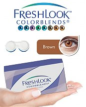 Pack Freshlook Colorblends (avec corrections) - Marron + Aqua Lens 120ml