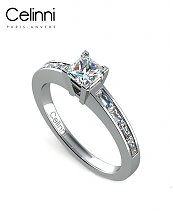 Bague Solitaire Diamant MA PRINCESSE Or Blanc 800/1000 1.00 Carat