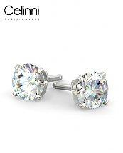 Boucles d'Oreilles Diamants Or Blanc 800/1000 0.50 Carat