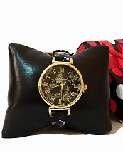 Montre Top Ornament Black Flower Nature pour femme