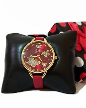 Montre Top Ornament Red Butter Fly pour femme
