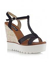 Sandales compensées Noir - Bozikis