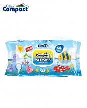 Lingette Humide Ultra Compact Baby Universe - 64 pièces