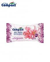 Lingette Humide de poche parfum de Lilium - 15 pièces