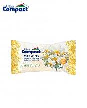 Lingette Humide de poche parfum de Narcisse - 15 pièces