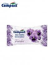 Lingette Humide de poche parfum de Violette - 15 pièces
