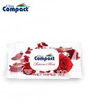 Lingette Humide Ultra Compact Forerver Rose - 100 pièces