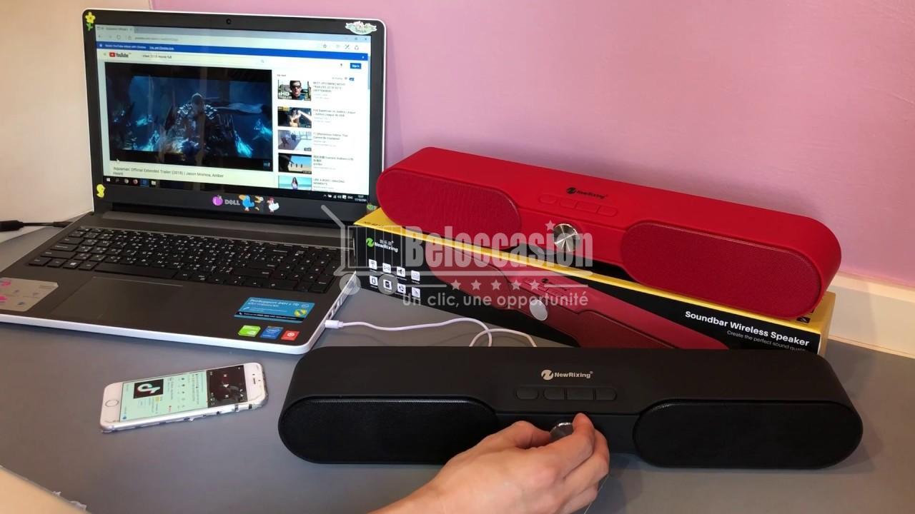 Haut parleur Barre de son NR4017 Soundbar - NewRixing Bluetooth Multifonction Sports Mini Speaker beloccasion maroc