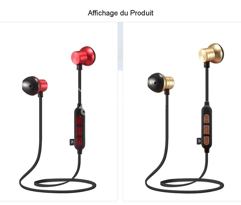 Ecouteurs Intra-Auriculaires M12 - Bluetooth Sans Fil en Métal Magnétique - Beloccasion Maroc