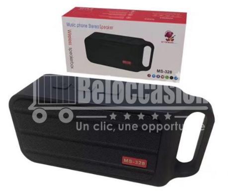 Actionpie Haut-Parleur Sans Fil Portable Bluetooth Extérieur Sans Fil MS-328 NoirÉtanche Bass, Construit en Mic, résistant à l'eau, Plage, Douche et maison - beloccasion maroc