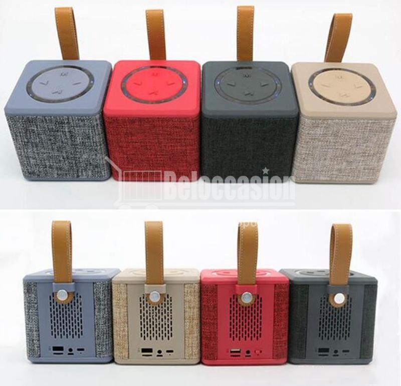 NR-1016 Mini haut-parleur portable sans fil Bluetooth Subwoofer Lecteur de musique Haut-parleur Tissu Bluetooth de haute qualité NR-1016-Mini-Portable