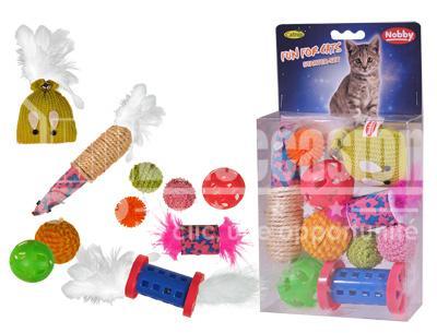 Jouet chat 10pcs Assortiment 14.5x19x4.5cm jouet pour chat au maroc - accessoires chat au maroc beloccasion maroc