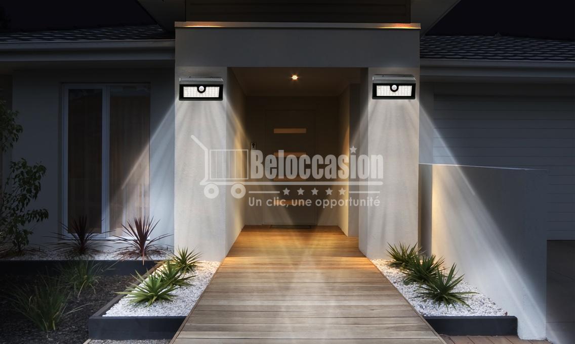 Lampe éclairage pour l'extérieur -détection de mouvement Énergie solaire 38 LED beloccasion Maroc