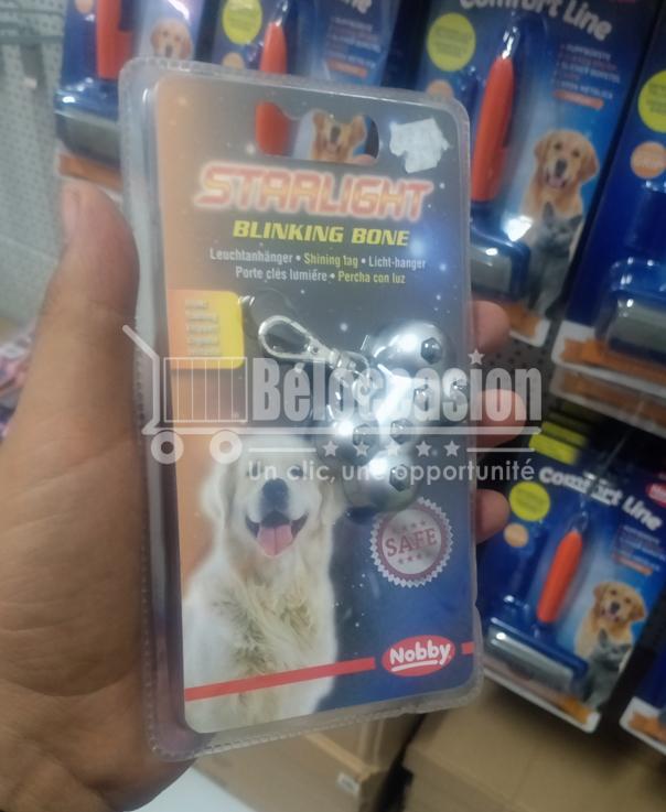 Led Lampe de sécurité Blinking Bone 5cm pour chien - Nobby accessoire chien luxe accessoire chien pas cher accessoires chiens originaux accessoires pour petit chien boutique chien en ligne harnais chien beloccasion