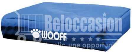 Matelas Wooff Déhoussable Bleu pour chien et chat 75x55x15cm animalerie beloccasion maroc