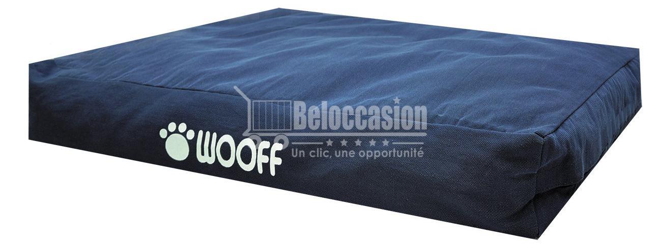 Matelas Wooff Déhoussable Navypour chien et chat 75x100x15cm - animalerie beloccasion maroc