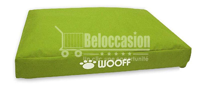 Matelas Wooff Déhoussable Vert pour chien et chat 75x55x15cm beloccasion maroc