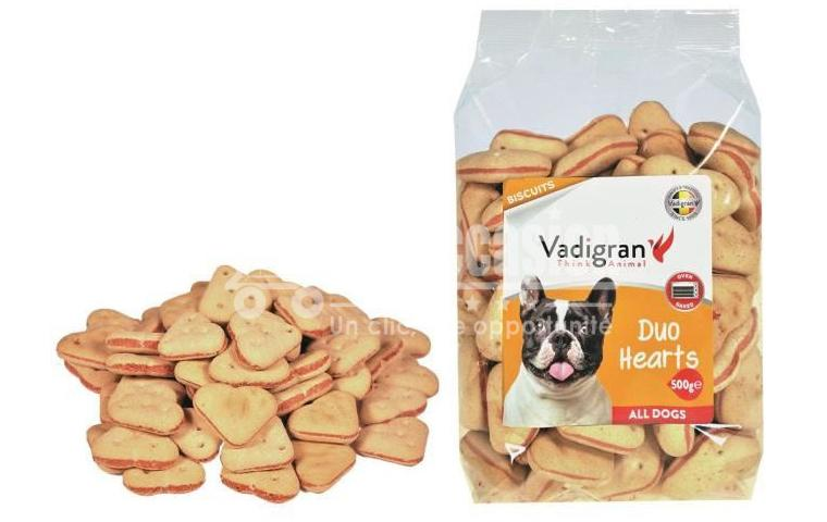 Snack chien biscuits Duo Hearts 500g - Vadigran pour chiens-vadigran-dropshipping-marco beloccasion.com