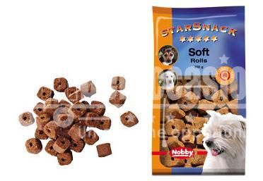 Snack chien biscuits Soft Rolls 200g - Nobby- friandise cuite au four - Plusieurs saveurs différentes - Faible teneur en matiere grasse - Sain et vitaminé - Idéal pour l'éducation du chien - 200g beloccasion maroc